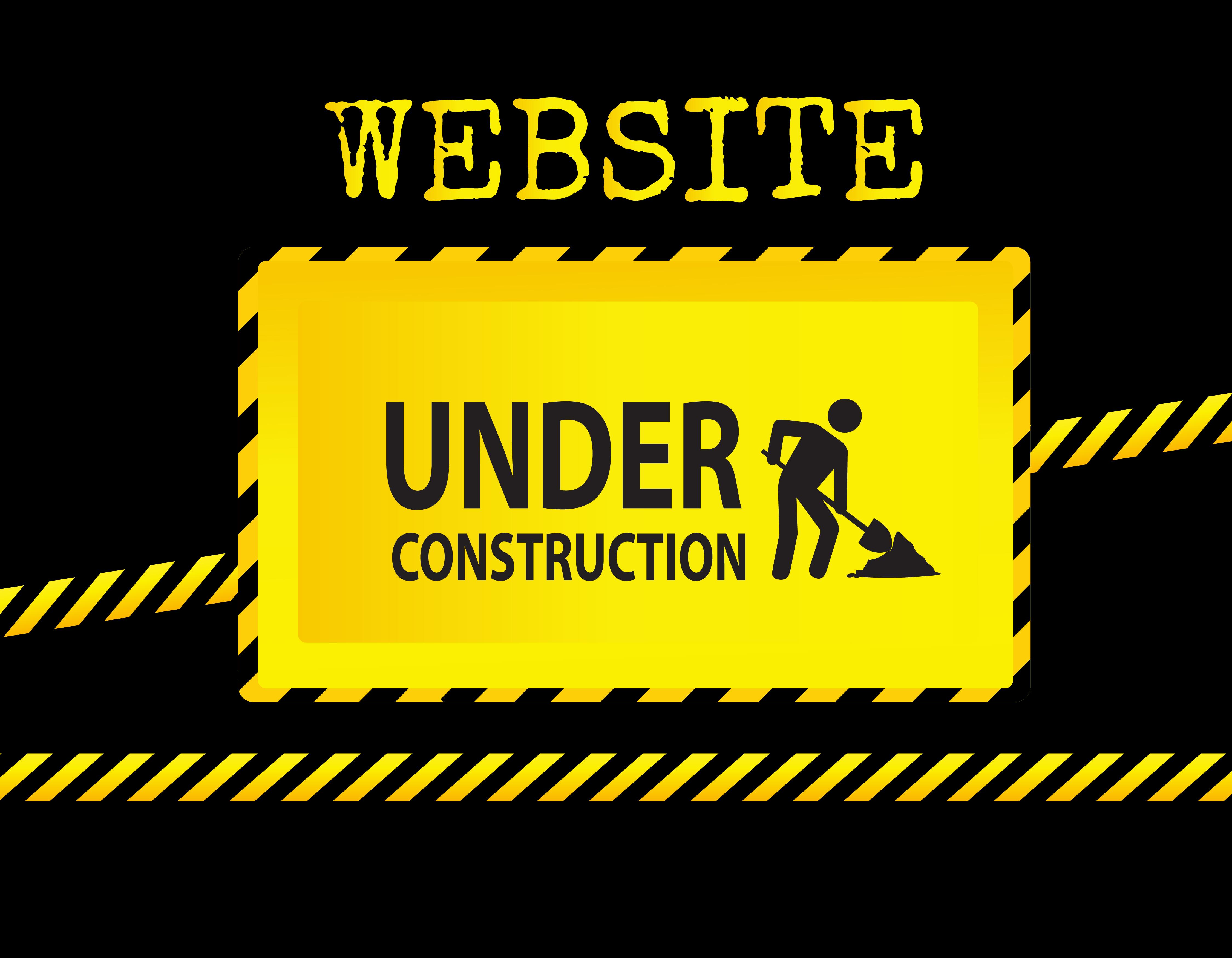 Illustration of website under construction sign or background for web site landing pages